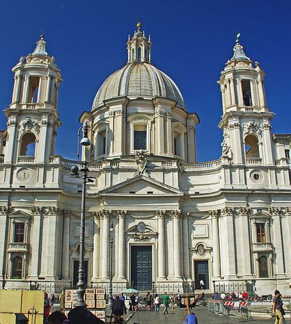 St Agnes Church Piazza Navona Rome