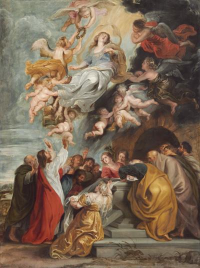 Paul Rubens - Assumption of the Virgin Painting