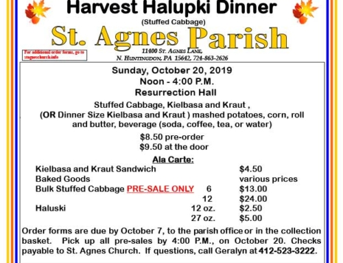 Harvest Halupki Dinner