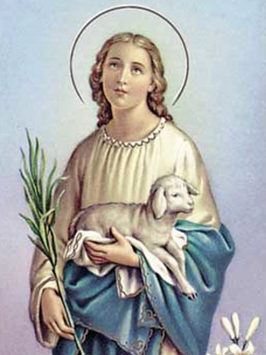 St Agnes Holy Card