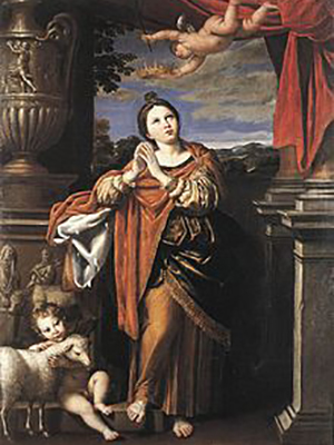 St Agnes by Domenichino