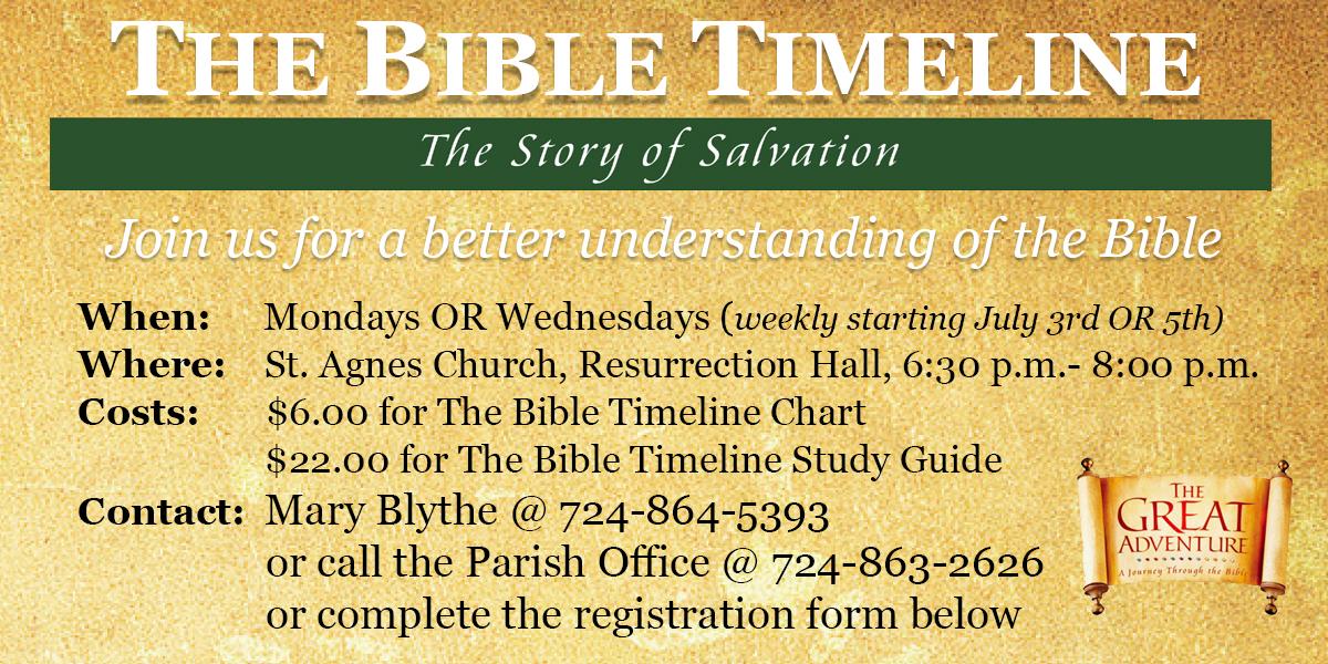 St Agnes Bible Timeline Bible Study Information