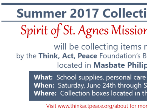 Spirit of St. Agnes Mission Committee Summer Collection