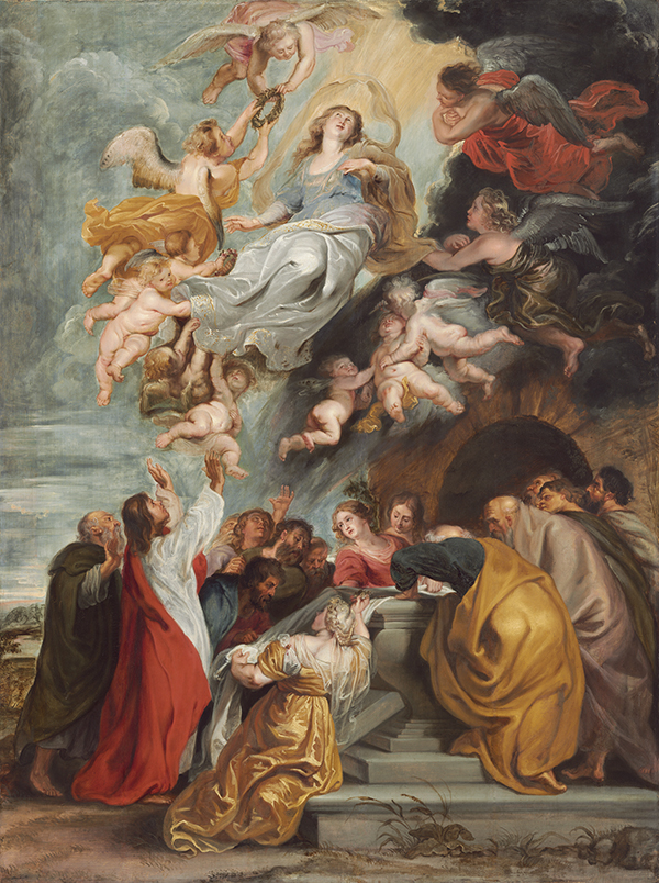 Paul Rubens - Assumption of the Virgin Painting