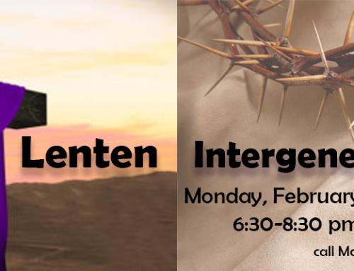 Lenten Family Intergenerational Event
